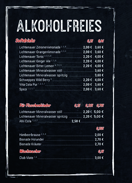 Alkoholfreie Getränke Tonellis